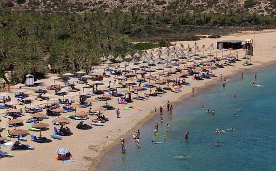 Beach, Vai, Vai Beach, Vai Crete, Palm Beach, Sea