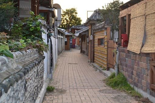 Jeonju, Hanok Village, Side Streets, Republic Of Korea