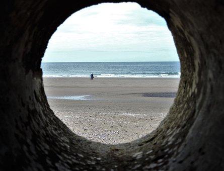 Beach Tunnel, Spy Hole, Tunnel, Coast, Oregon Coast