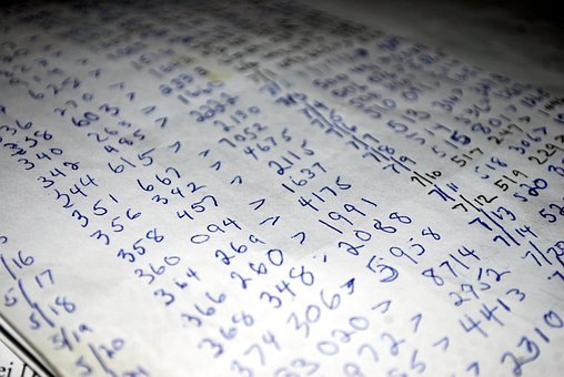 Numbers, Cipher, Calculation, List, Tabulation, Group
