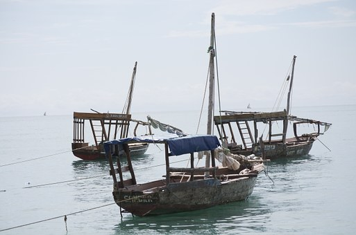 Dhow Boats, Tanzania, Africa