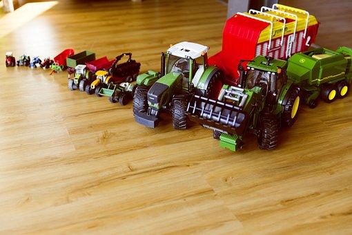 Tractor, Bulldog, Toys, Vehicles, Children, Play, Boy