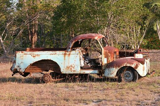 Old Car, Rusty Car, Rusty Ute, Rusty, Car, Vintage