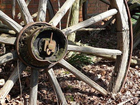 Wagon Wheel, Old, Wooden Wheel, Old Wagon Wheel