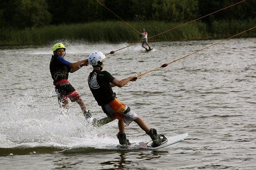 Water, Lake, Water Sports, Waterskiing, Water Skiing