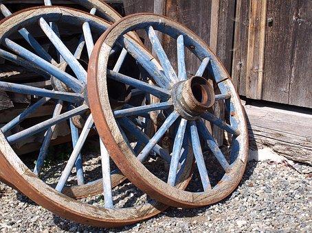 Wooden Wheel, Wagon Wheel, Wheel, Wood, Spokes