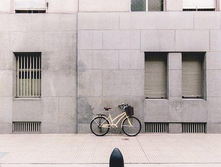 Bicycle, Bike, Old, Street, Wall, City