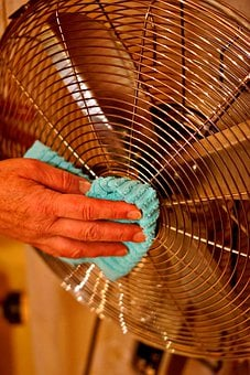 Fan, Cleaning, Air, Fresh, Dust, Heat, Cooling, Dirty