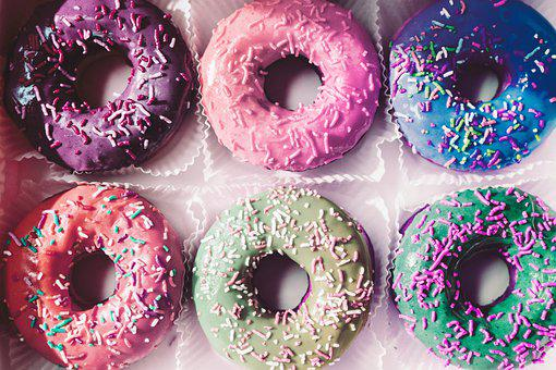 Donuts, Food, Dessert, Tasty, Donut, Sweet, Delicious