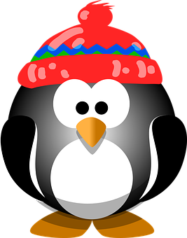 Penguin, Bird, Hat, Winter, Cute, Animal