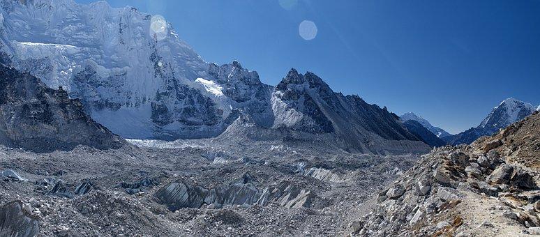 Nepal, Everest, Khumbu, Glacier