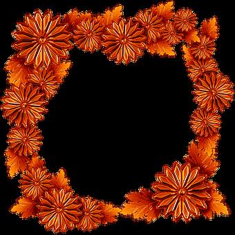 Copper, The Frame, Chrysanthemum Flowers, Leaf