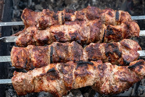 Shish Kebab, Meat, Mangal, Skewers