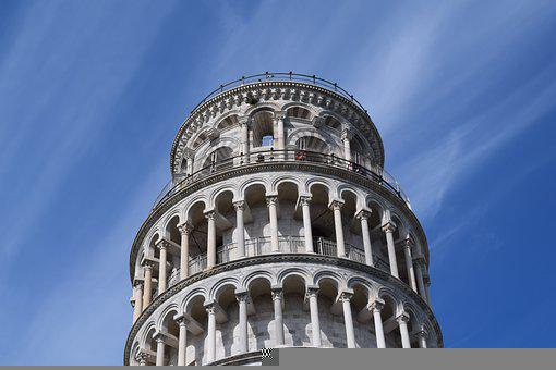 Pisa, Tower, Sky, Climbs, Florence