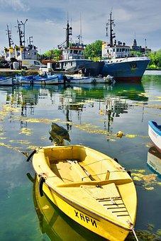 Boat, Calm, Sea, Recreation, Reflection, Peaceful