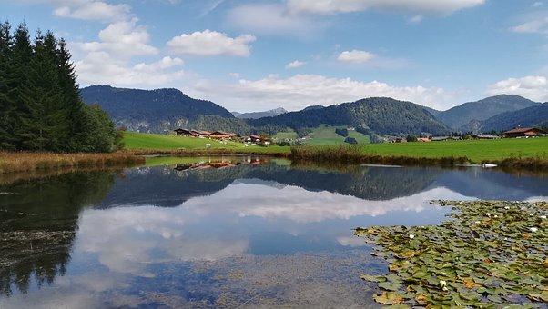 Mountains, Landscape, Lake, Nature