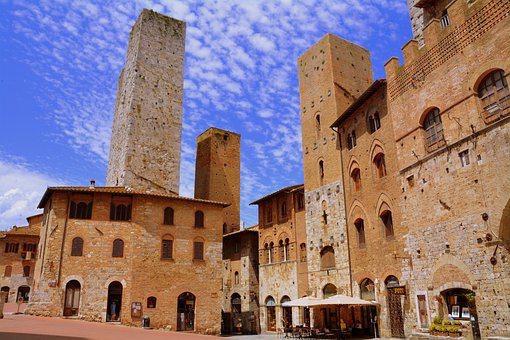 Piazza, Torre, Palazzo, Architecture, Construction, Sky