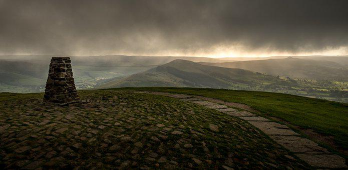 Mam Tor, Trig Point, Peak District