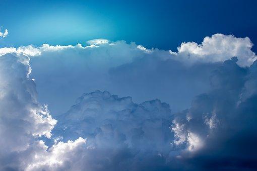 Clouds, Sky, Light, Sun, Sunbeam, Blue