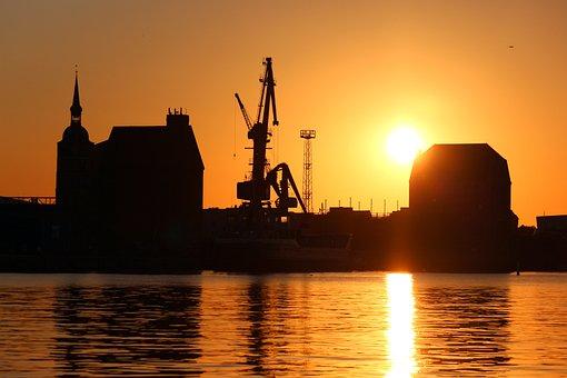 Stralsund, Sunset, Sky, Abendstimmung