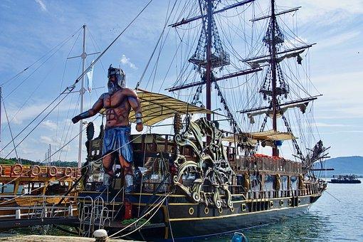 Ship, Tourism, Pirate, Maritime