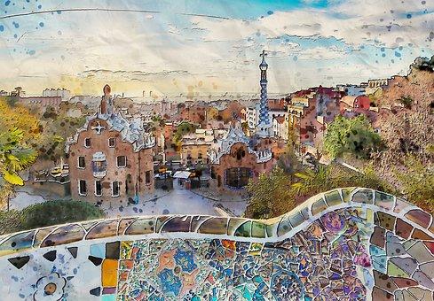 Scenic, City, View, Urban, Architecture, Art, Work