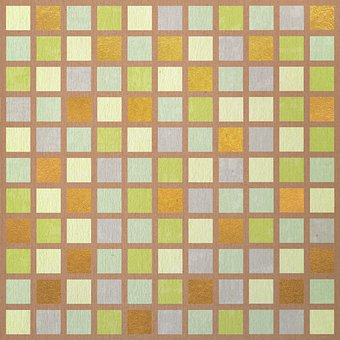 Pattern, Squares, Golden, Mosaic, Background