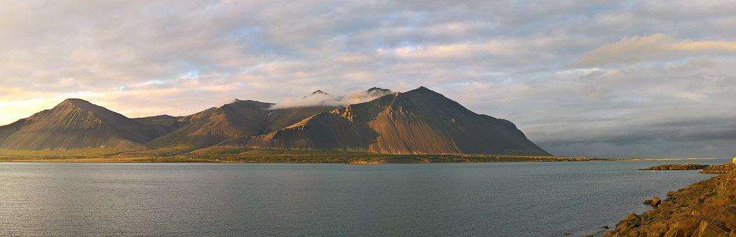 Sunrise, Sea, Bay, Borgarnes, Morning