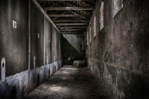 Corridor, Abandoned, Architecture, Interior, Dark, Old