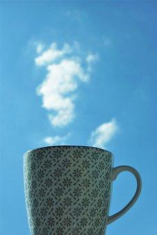 Cup, Clouds, Steam, Coffee, Tee, Drink