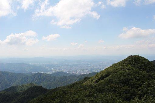 Mountain, Cloud, City, Landscape, Sky