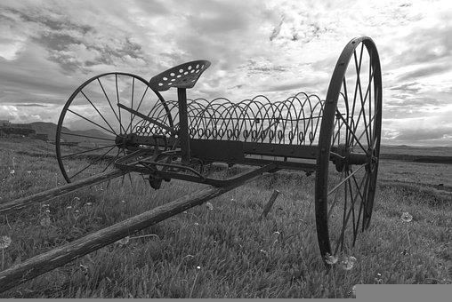 Agricultural, Machinery, Old, Rural, Historically