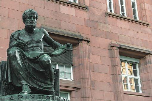 Sculpture, Bronze, Figure, Aristotle, Philosopher