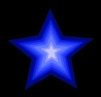 Stars, Blue, Drop Shadow, Effects