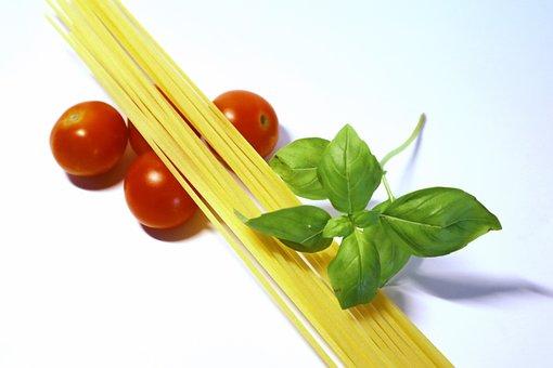 Noodles, Eat, Cook, Pasta, Tomatoes, Spaghetti, Basil
