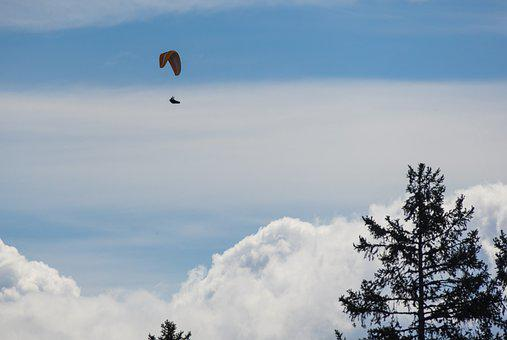 Paragliding, Sport, Flying, Freedom, Adventure, Courage
