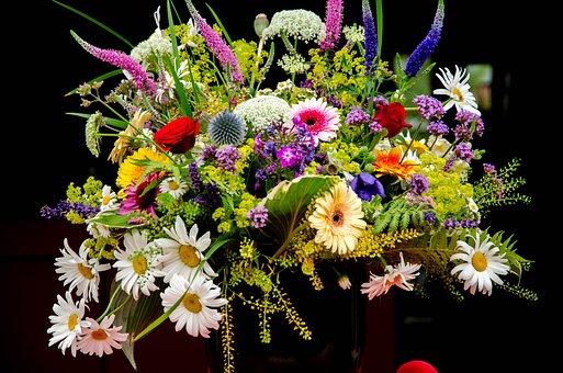 Flowers, Altar Arrangement, Altar, Summer, Bouquet