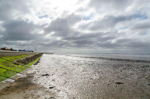 Beach, Sea, North Sea, Sky, Sand, Vacations, Holidays