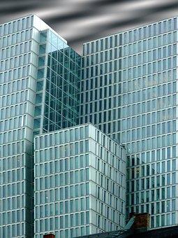 Facades, Building, Offices, Frankfurt, Architecture