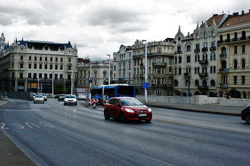 Budapest Building, Car, Budapest, Public, Going, Road
