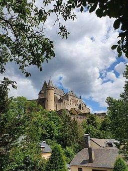 Vianden, Luxembourg, Castle, Monument, Historic