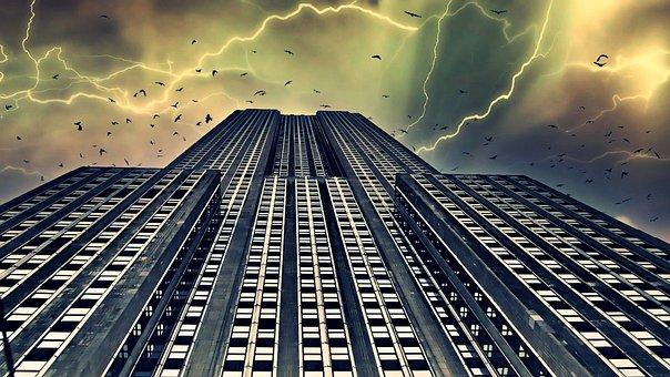 Lightening, Storm, Thunder, Rain, Clouds