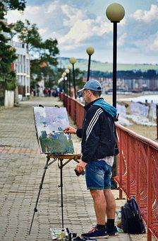 Painter, Artist, Painting, Brush, Creative, Color