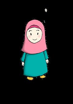 Little Girl With Hijab, Cute Girl