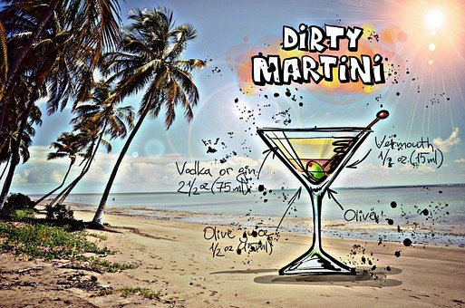 Dirty Martini, Cocktail, Drink, Alcohol, Recipe, Party