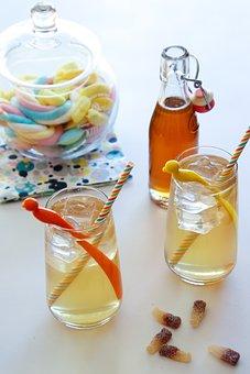 Drinks, Syrup, Drink, Sugar, Fresh, Glass, Summer