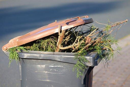 Dustbin, Green Cut, Brown Ton, Waste