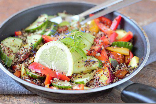 Quinoa, Salad, Healthy, Food, Fresh, Vegetables, Eat
