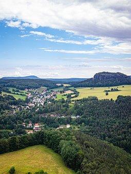 Saxony, Landscape, Elbe Sandstone Mountains, Germany