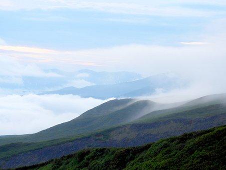 Fog, Cloud, Evening, Forest, Haze, Twilight, Mountains